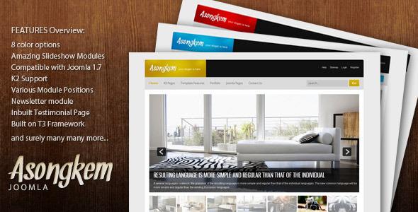 Asongkem - Premium Joomla Template Corporate