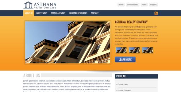 Asthana Realty Corporate Joomla! Template