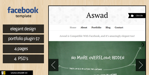 Aswad | Facebook Template Corporate