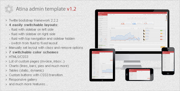 Atina - Responsive Admin Template AdminTemplates