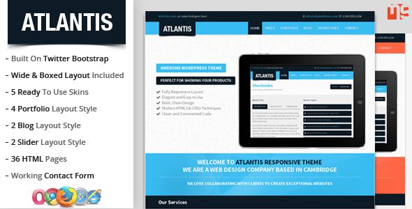 Atlantis : Bootstrap Multipurpose Responsive Theme Template