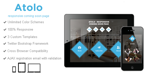 Atolo - Responsive Coming Soon Page Template Specialty Page