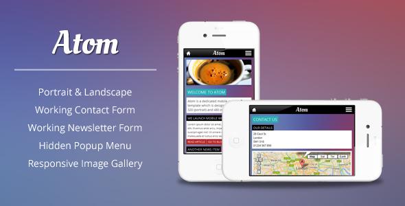 Atom HTML Mobile Template Mobile