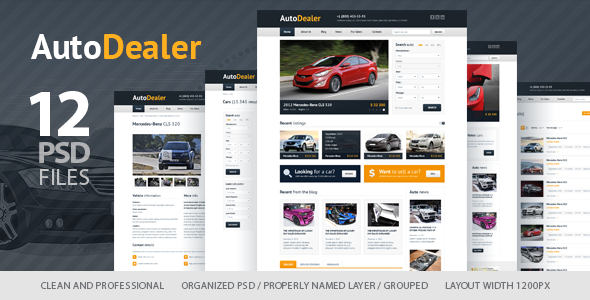 Auto Dealer - Car Dealer PSD Template Retail