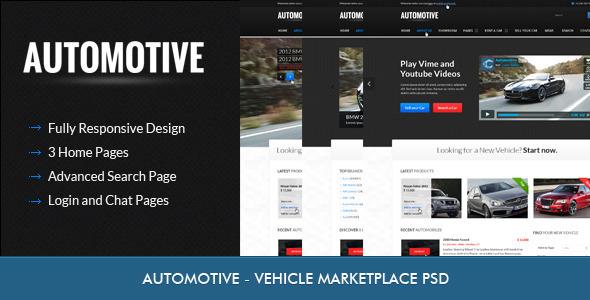 Automotive - Car Dealer PSD Retail