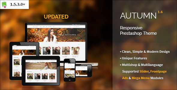 Autumn - Responsive Prestashop Theme Fashion