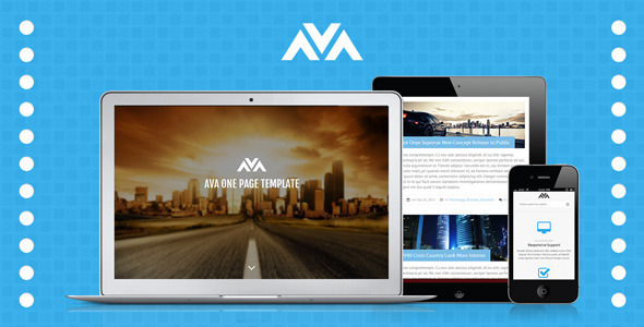 Ava Responsive One Page Template Creative