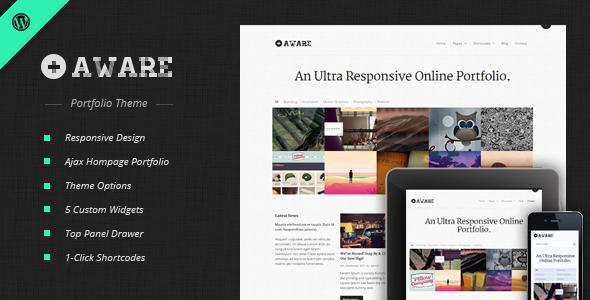 Aware - Responsive Wordpress Portfolio Theme Creative
