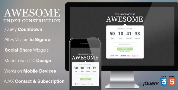 Awesome Coming Soon Page Template Specialty Page