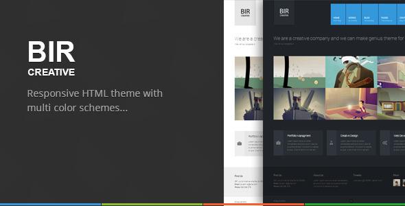 BIR - Responsive Creative HTML Template Creative