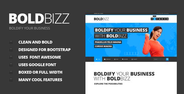 BOLDBIZZ - Multi Purpose PSD Template Corporate