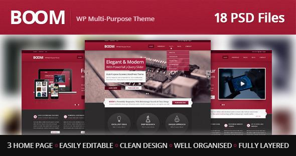 BOOM - Multi-Purpose PSD Theme Corporate
