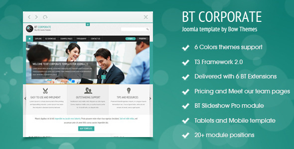 BT Corporate Template For Joomla 2.5 Corporate