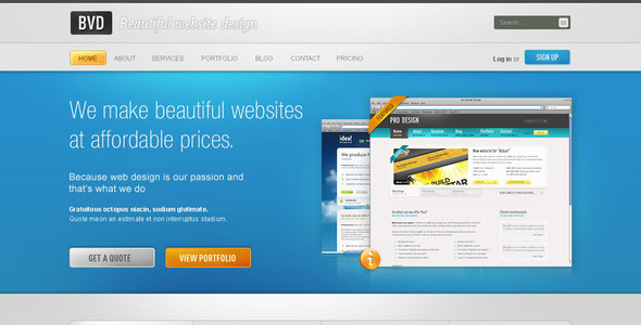 BVD - Beautiful Website Design Creative PSDTemplates