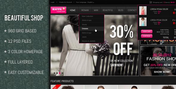 Beautiful Shop PSD Retail