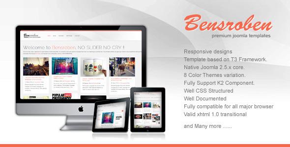 Bensroben - Responsive Joomla Template Iki Cak Creative