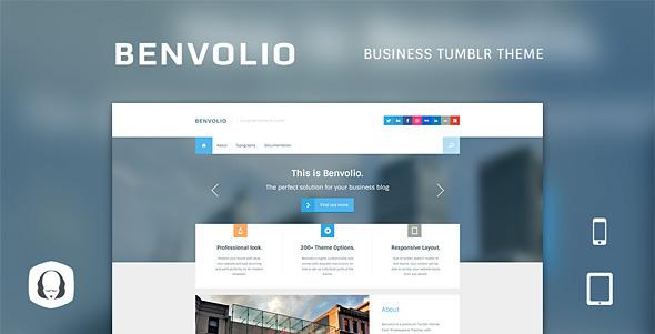 Benvolio - A Business Tumblr Theme Tumblr Blogging