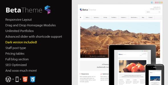Beta - Clean Corporate WordPress Theme Corporate
