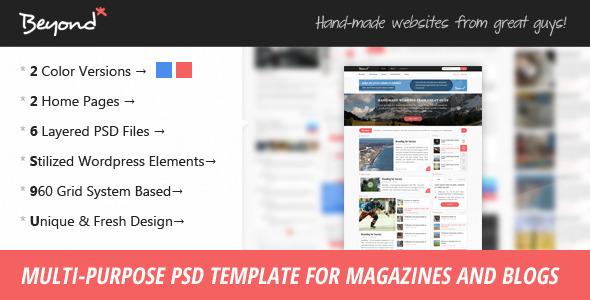 Beyond - Multi-purpose PSD Template Creative