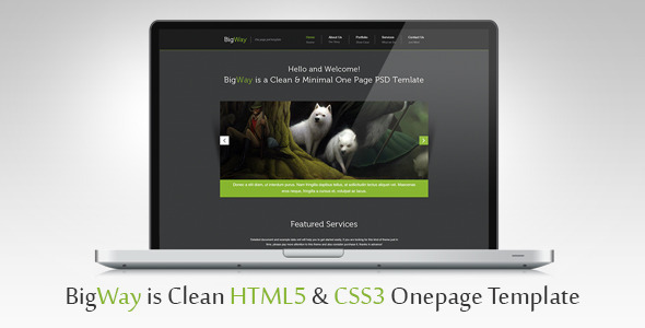BigWay - Onepage HTML5 & CSS3 Template Creative