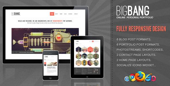 Bigbang - Responsive WordPress Template Creative