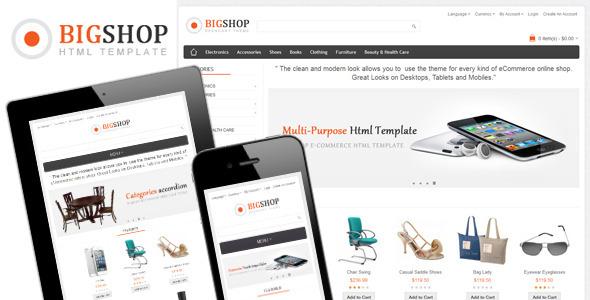 Bigshop - Multi-Purpose Responsive Html Template Retail