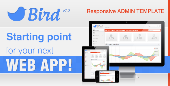 Bird - Responsive Web App & Admin Template AdminTemplates