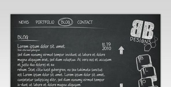 Black Board Portfolio Template Creative PSDTemplates