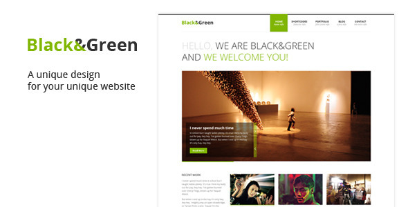 Black & Green PSD Creative