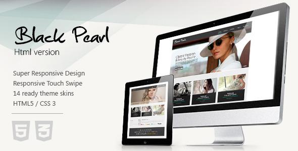 Black Pearl - Responsive HTML Template Creative