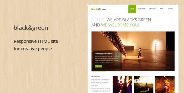 Black&Green - Responsive HTML site Template Creative