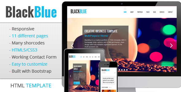 BlackBlue - Responsive multipurpose template Corporate