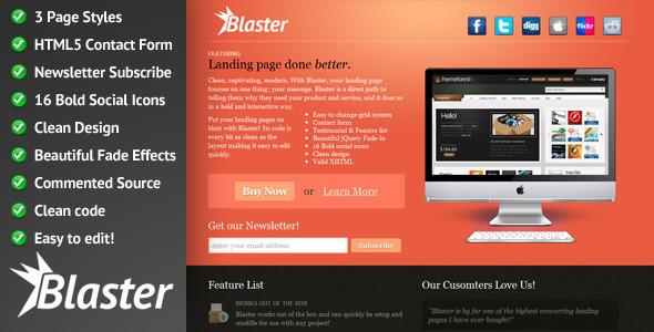 Blaster Landing Page Package LandingPages Landing Page