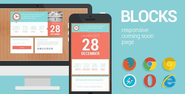 Blocks - Responsive Coming Soon page Template Specialty Page