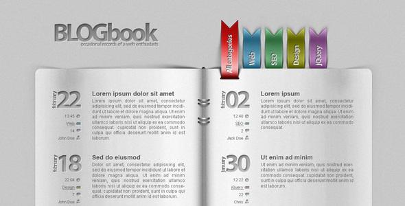 Blog as a book! Creative PSDTemplates
