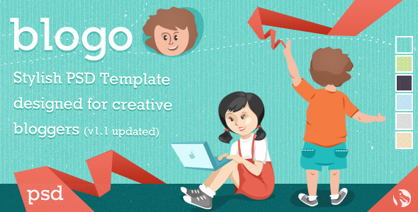 Blogo - Stylish PSD Template for Creative Bloggers