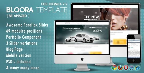 Bloora Template for Joomla