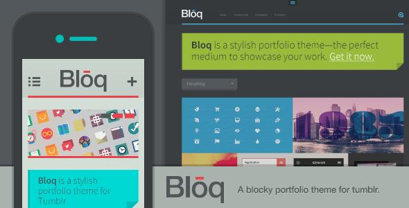 Bloq - A Blocky Portfolio Theme for Tumblr Tumblr Blogging