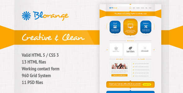 Blorange Multipurpose Creative Site Template Creative