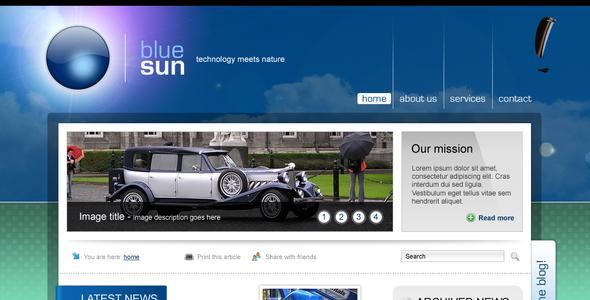 Blue Sun - corporate website Corporate PSDTemplates