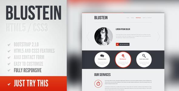 Blustein - responsive HTML5 portfolio template Creative