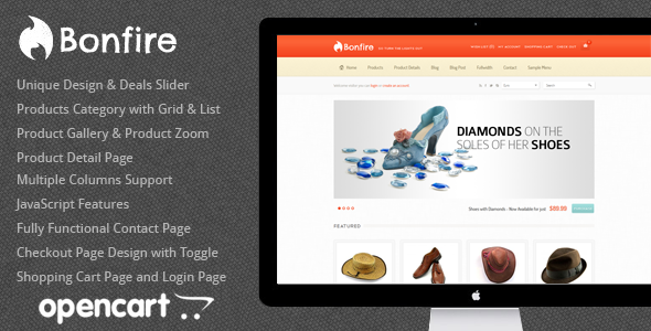 Bonfire - Premium OpenCart Theme Shopping