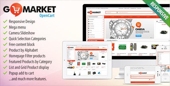 BossThemes GoMarket - Supermarket OpenCart Theme Shopping