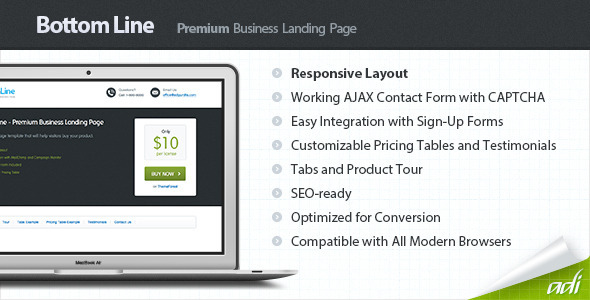 Bottom Line - Premium Business Landing Page LandingPages Landing Page