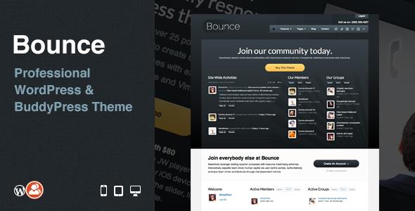 Bounce: Professional WordPress & BuddyPress Theme BuddyPress