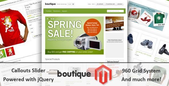 Boutique - Miscellaneous Magento Theme