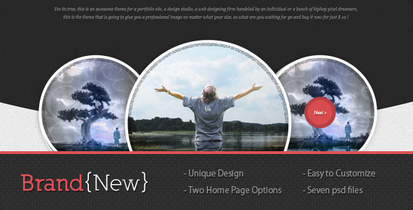 Brand New Creative PSDTemplates