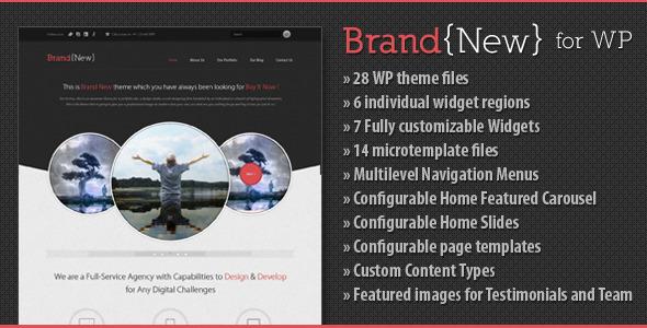 Brand New - An Exclusive WordPress Theme Creative