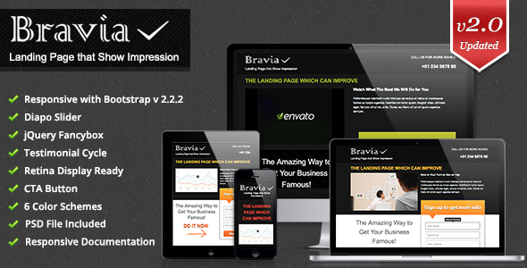 Bravia Landing Page