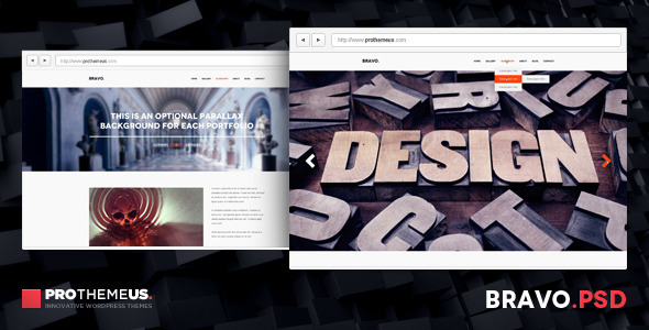 Bravo | A Single-Paged Design for Minimalists PSD Creative